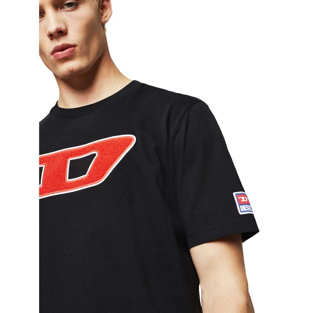 DIESEL DIESEL T-SHIRT T-JUST DIVISION D - BLACK