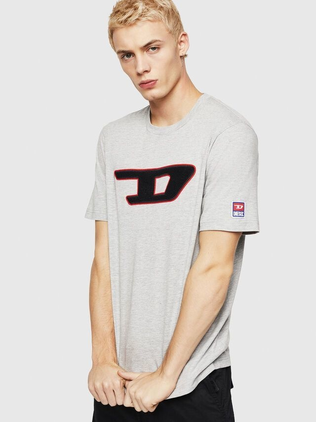 DIESEL DIESEL T-SHIRT T-JUST DIVISION D - GREY