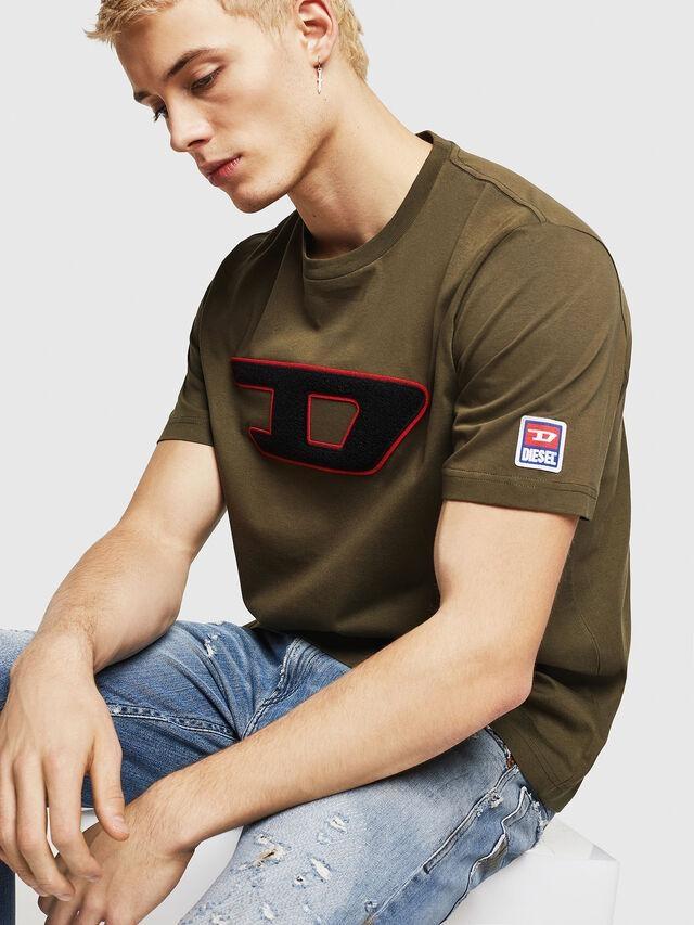 DIESEL DIESEL T-SHIRT T-JUST DIVISION D - GREEN OLIVE
