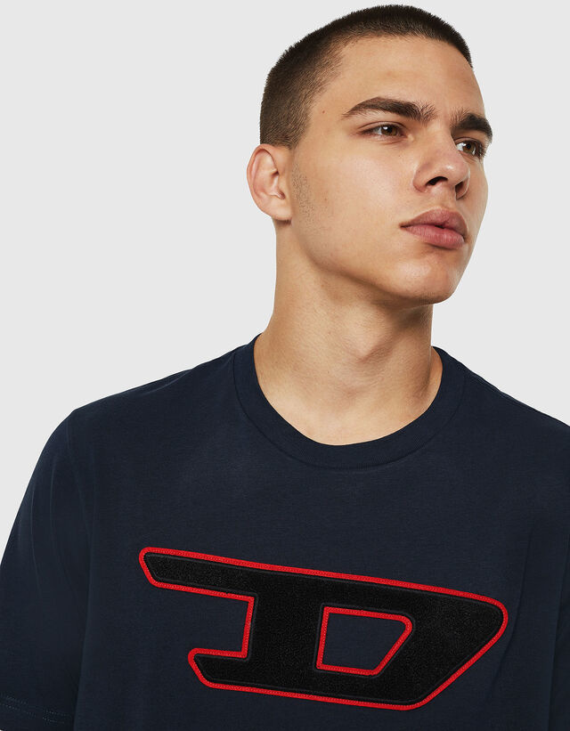 DIESEL DIESEL T-SHIRT T-JUST DIVISION D - DARK BLUE