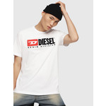 DIESEL DIESEL T-SHIRT T-JUST-DIVISION WHITE
