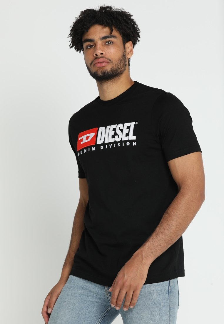 DIESEL DIESEL T-SHIRT T-JUST-DIVISION BLACK
