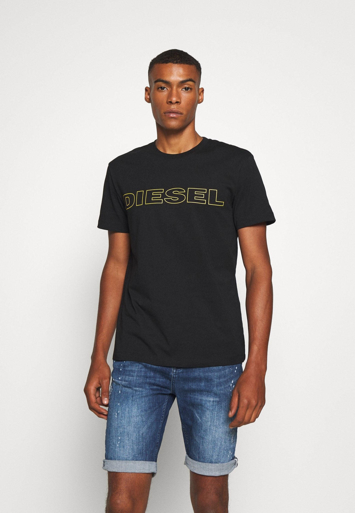 DIESEL DIESEL T-SHIRT UMLT JAKE - BLACK/YELLOW