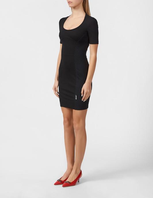 VERSACE JEANS COUTURE VERSACE JEANS COUTURE DRESS D2HVA419 - BLACK