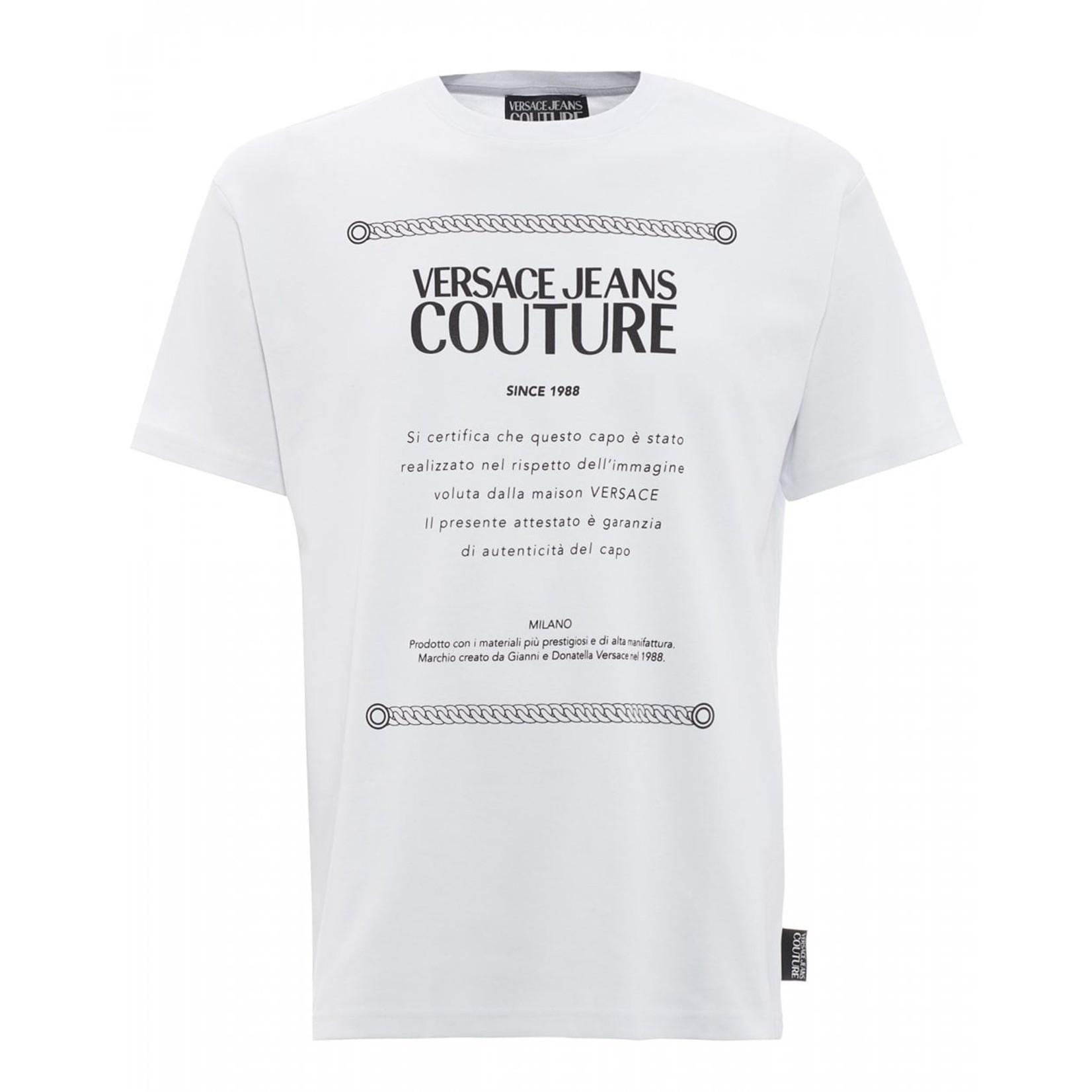 VERSACE JEANS COUTURE VERSACE JEANS COUTURE T-SHIRT  B3GVAX23 - WHITE