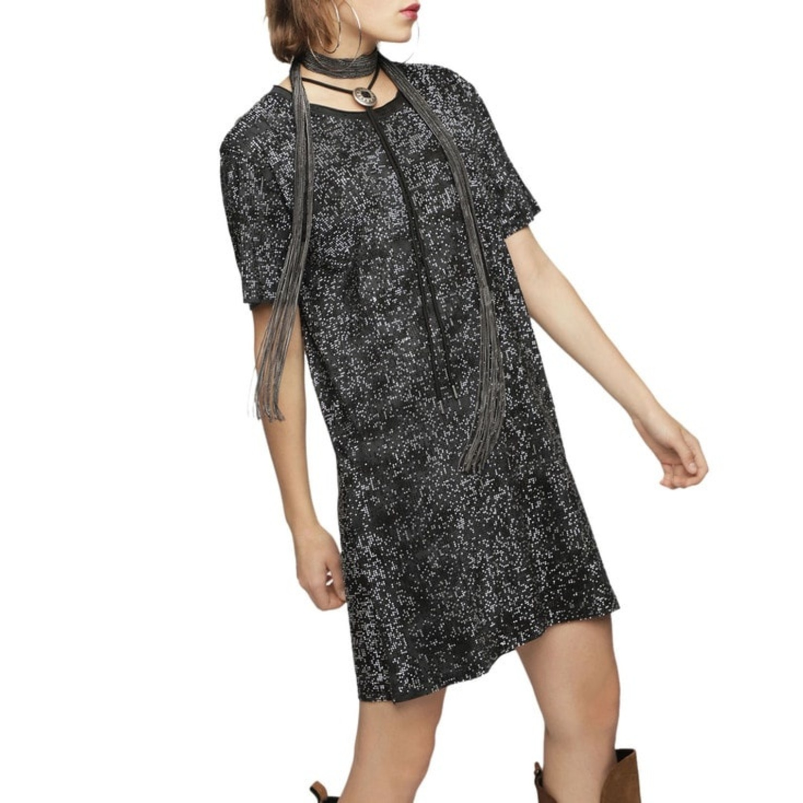 DIESEL DIESEL DRESS ARY - BLACK/STRASS