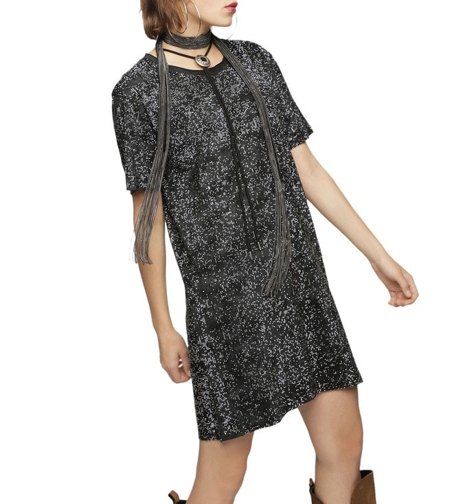 DIESEL DIESEL DRESS ARY - BLACK/STRASS