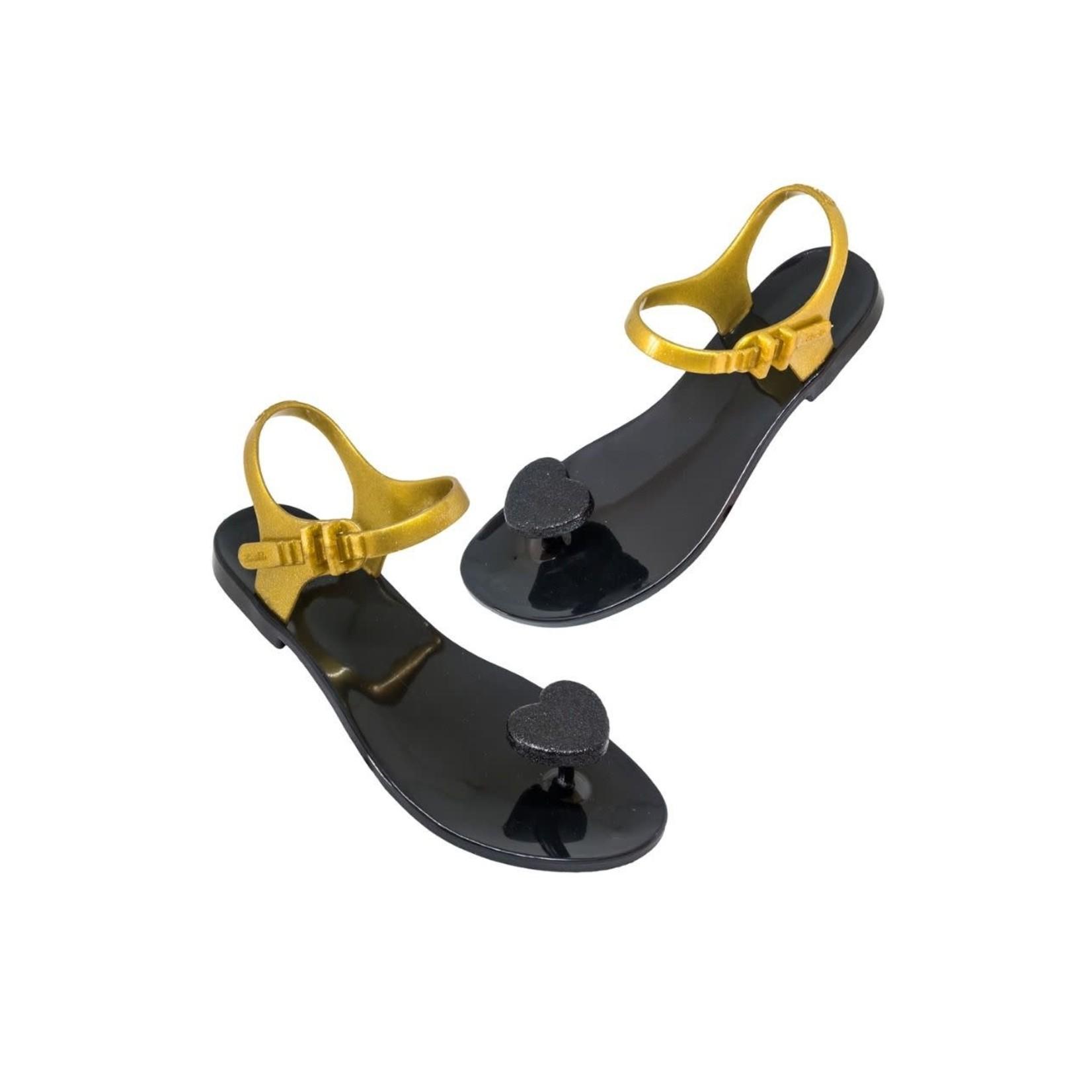 SHOELA SHOELA SANDALE CORAZON - BLACK/GOLD