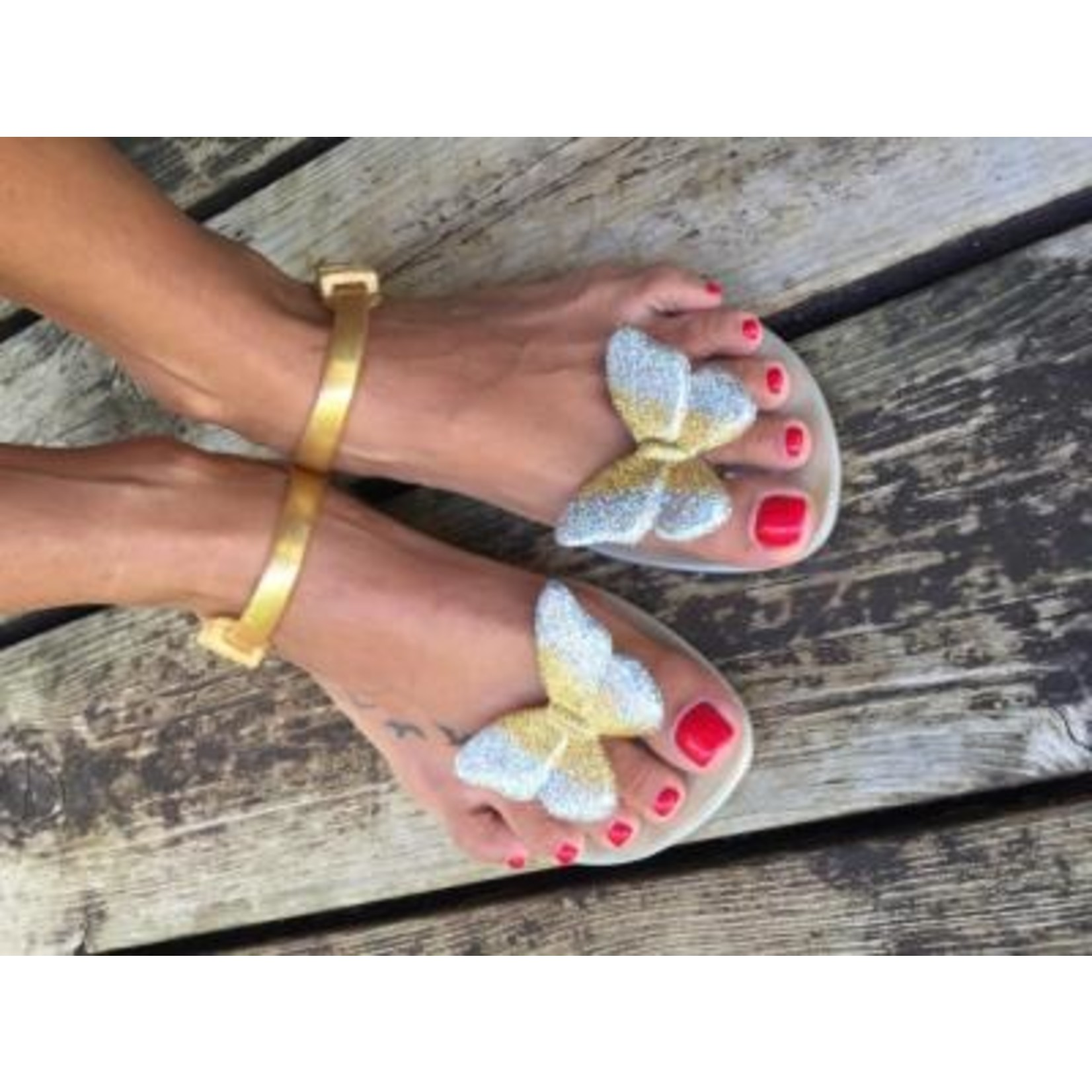 SHOELA SHOELA SANDALES BUTTERFLY - GOLD