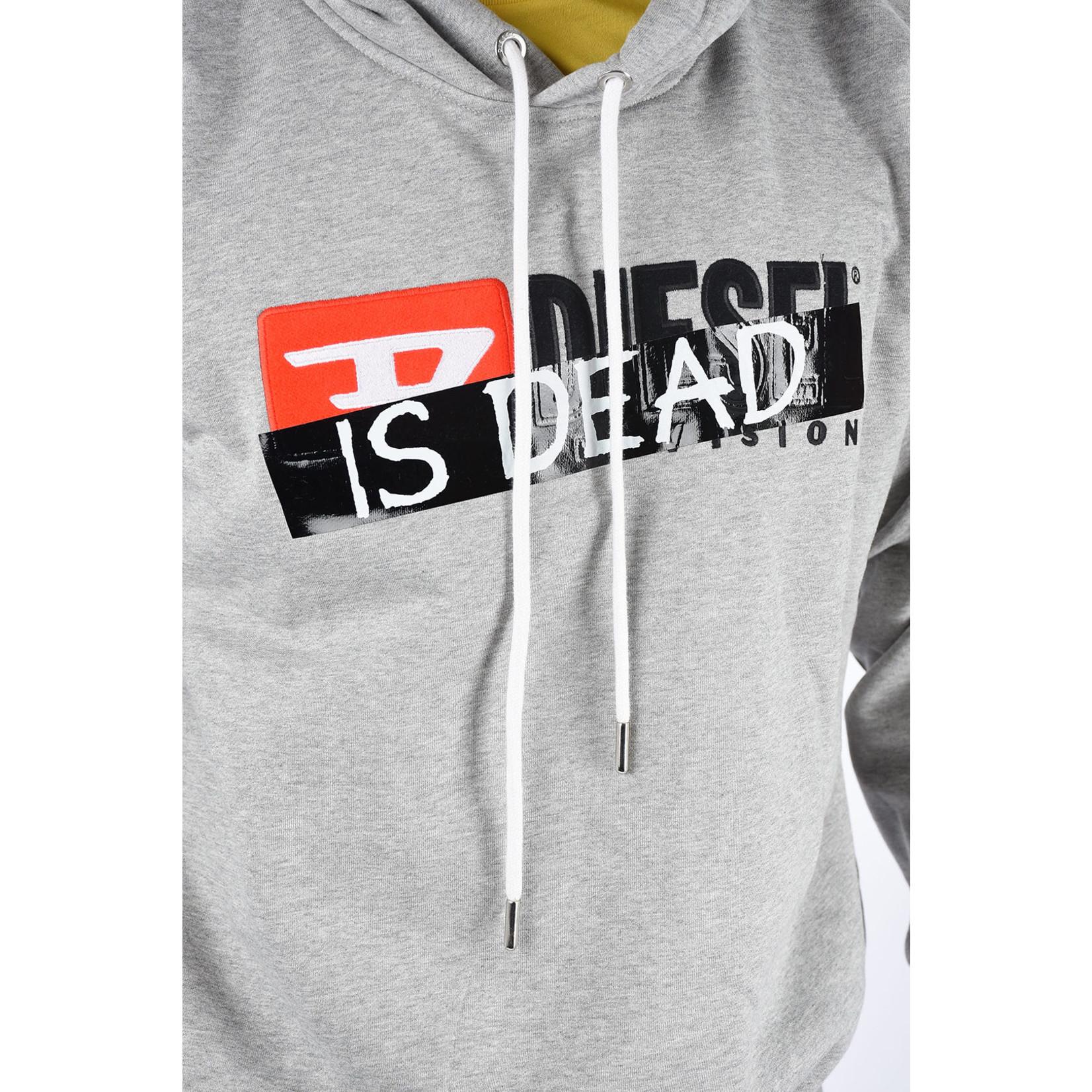 DIESEL DIESEL IS DEAD SWEATSHIRT DIVISION FELPA - GREY