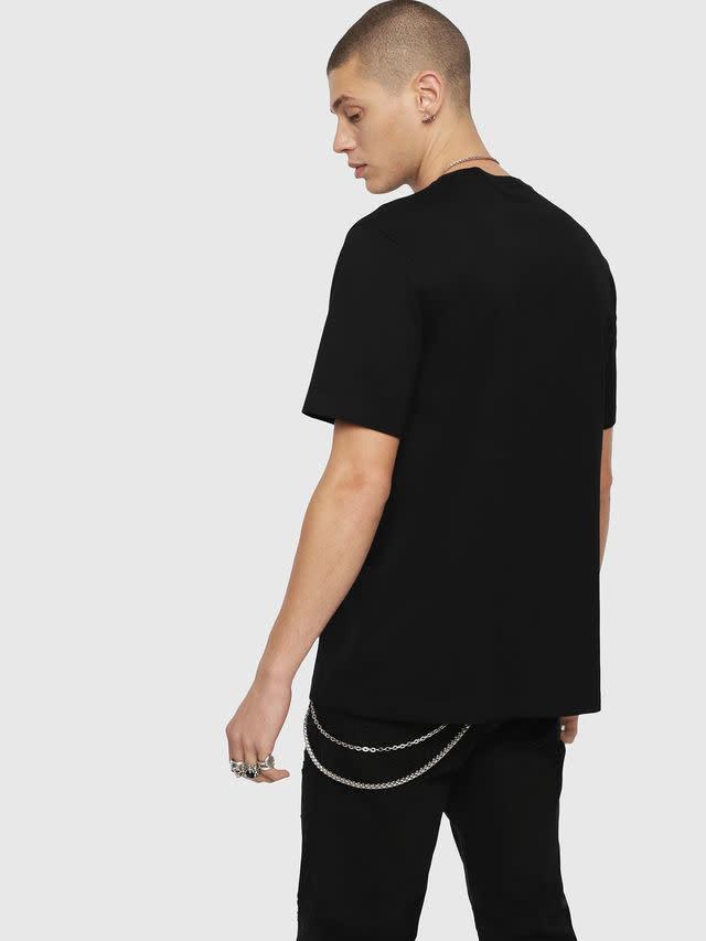 DIESEL DIESEL T-SHIRT T-JUST YL - BLACK