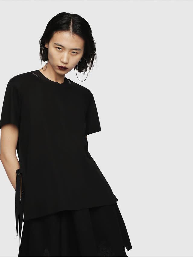 DIESEL DIESEL WOMEN'S T-FLEURIS A BLACK