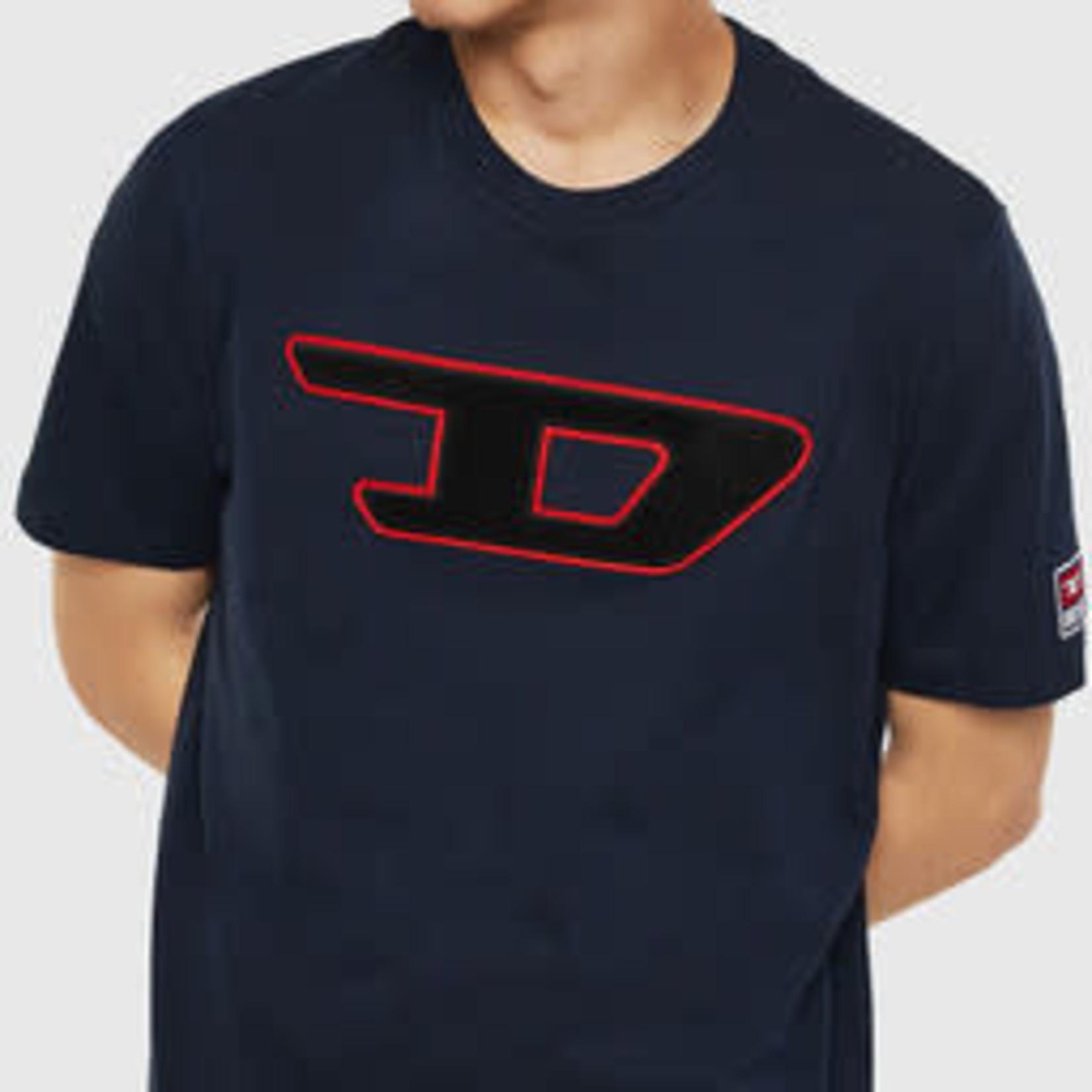 DIESEL DIESEL T-SHIRT T-JUST DIVISION D - DARK BLUE