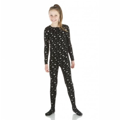 Kickee Pants Holiday Footie with Zipper (Silver Bright Stars)