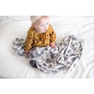 Copper Pearl knit swaddle blanket - rowan