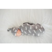 Copper Pearl knit swaddle blanket - scout