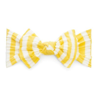 Baby Bling Patterned Knot (Mustard Stripe)