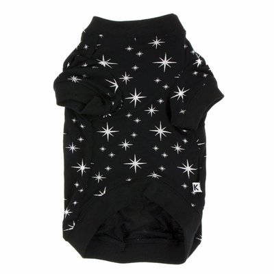 Kickee Pants Print Dog Tee in Silver Bright Stars