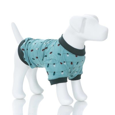 Kickee Pants Print Dog Tee in Glacier Holiday Lights