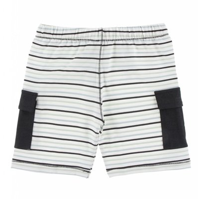 Kickee Pants Print Performance Jersey Cargo Short (Tuscan Afternoon Stripe)