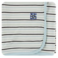 Kickee Pants Print Swaddling Blanket (Tuscan Afternoon Stripe - One Size)
