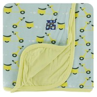 Kickee Pants Print Stroller Blanket (Spring Sky Scooter - One Size)