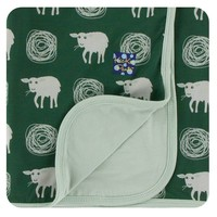 Kickee Pants Print Stroller Blanket (Topiary Tuscan Sheep - One Size)