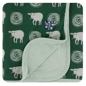 Kickee Pants Print Stroller Blanket (Topiary Tuscan Sheep - One Size)