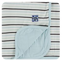 Kickee Pants Print Stroller Blanket (Tuscan Afternoon Stripe - One Size)