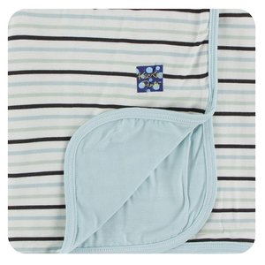 Kickee Pants Print Stroller Blanket (Tuscan Afternoon Stripe - One Size)