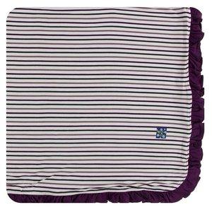 Kickee Pants Print Ruffle Toddler Blanket (Tuscan Vineyard Stripe - One Size)