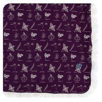 Kickee Pants Print Ruffle Toddler Blanket (Wine Grapes Herbs - One Size)
