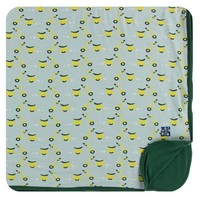 Kickee Pants Print Toddler Blanket (Spring Sky Scooter - One Size)