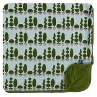 Kickee Pants Print Toddler Blanket (Spring Sky Villa Garden - One Size)