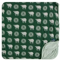Kickee Pants Print Toddler Blanket (Topiary Tuscan Sheep - One Size)