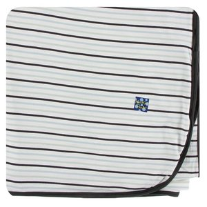Kickee Pants Print Throw Blanket (Tuscan Afternoon Stripe - One Size)