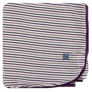 Kickee Pants Print Throw Blanket (Tuscan Vineyard Stripe - One Size)