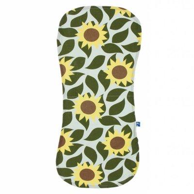 Kickee Pants Burp Cloth Set (Aloe Sunflower and Zest - One Size)
