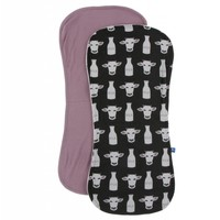Kickee Pants Burp Cloth Set (Zebra Tuscan Cow and Raisin - One Size)