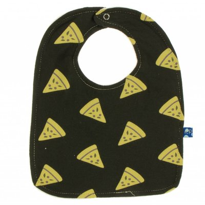 Kickee Pants Bib Set (Natural farfalle, aloe herbs and zebra pizza - One Size)