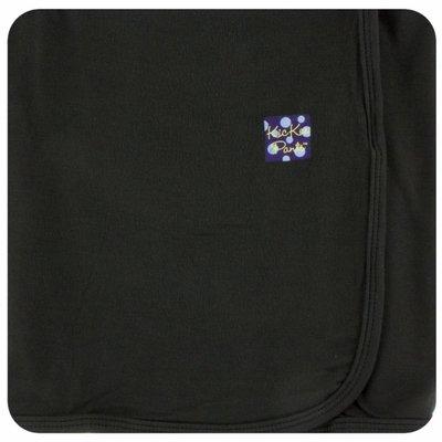 Kickee Pants Solid Swaddling Blanket (Zebra - One Size)