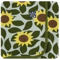 Kickee Pants Print Swaddling Blanket (Aloe Sunflower - One Size)