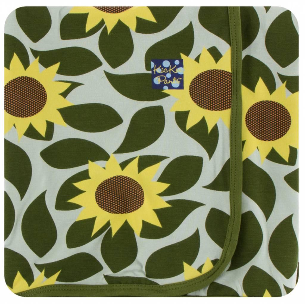 fc59418027b Kickee Pants Print Swaddling Blanket (Aloe Sunflower - One Size ...