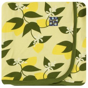 Kickee Pants Print Swaddling Blanket (Lime Blossom Lemon Tree - One Size)