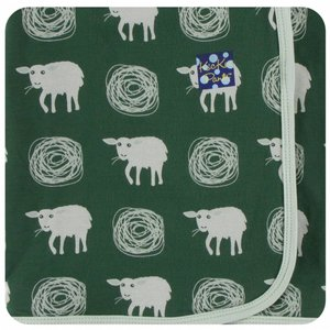 Kickee Pants Print Swaddling Blanket (Topiary Tuscan Sheep - One Size)