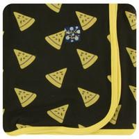 Kickee Pants Print Swaddling Blanket (Zebra Pizza - One Size)