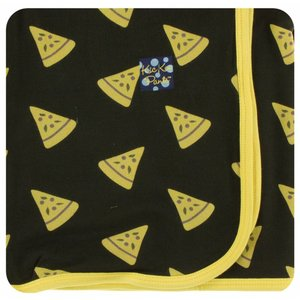 Kickee Pants Print Swaddling Blanket (Zebra Pizza - One Size)
