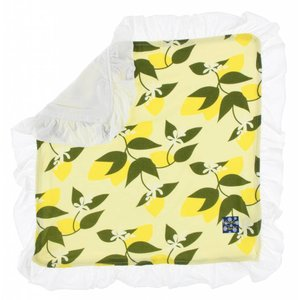 Kickee Pants Print Ruffle Bamboo Lovey (Lime Blossom Lemon Tree - One Size)