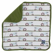 Kickee Pants Print Lovey (Natural Tractor and Grass - One Size)
