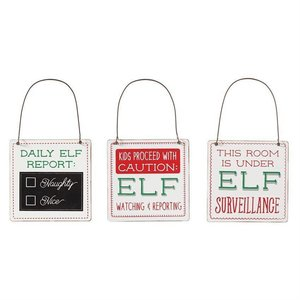Mud Pie ELF DOOR HANGERS